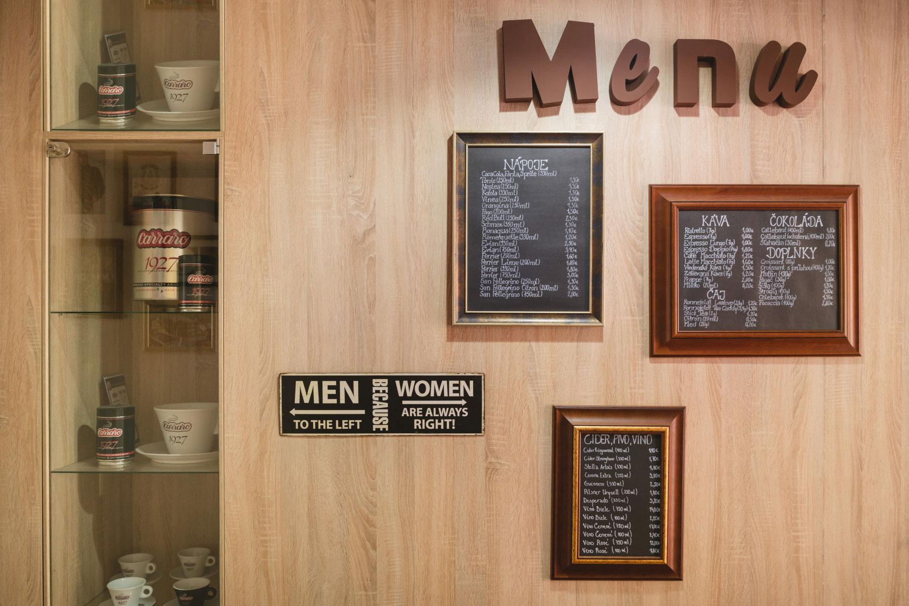 Kávové menu pre vašu kaviareň