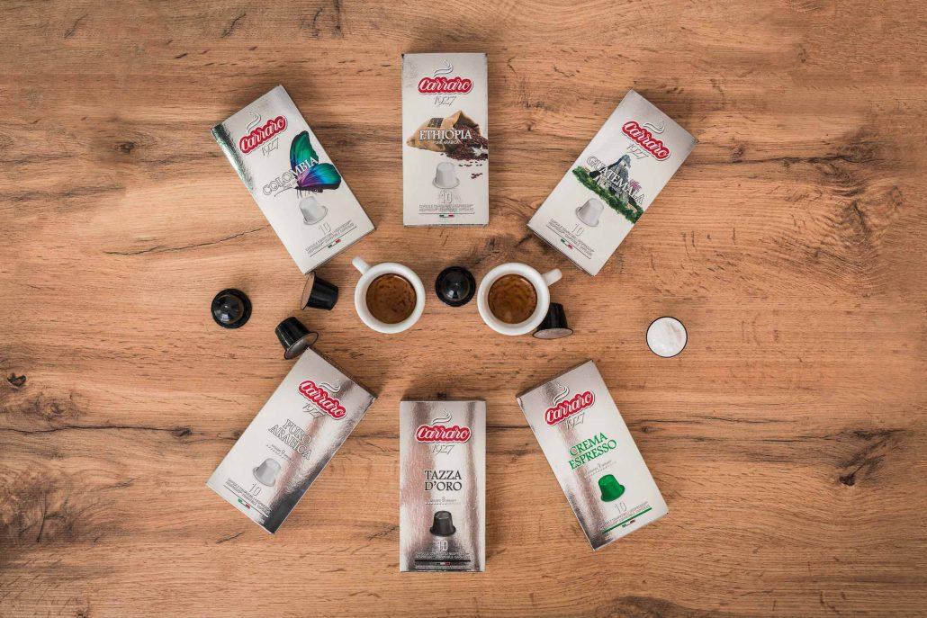 kapsule Carraro káva
